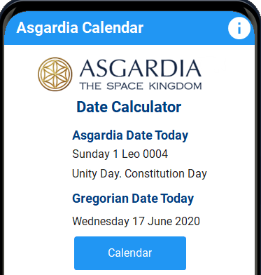 Asgardian Calendar App