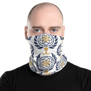 Asgardian Neck Gaiter, White, Pattern