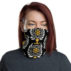 Asgardian Neck Gaiter, Black, Pattern