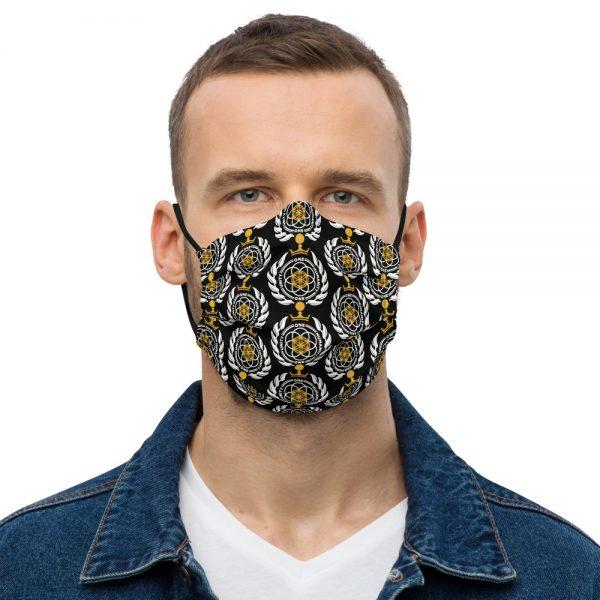 Asgardian Premium Face Mask, Black, Pattern