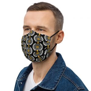 Asgardian Premium Face Mask, Black, Pattern
