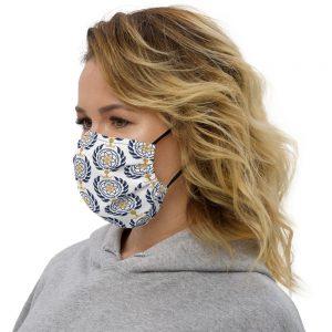 Asgardian Premium Face Mask, White, Pattern