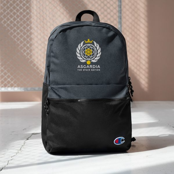 Asgardian Embroidered Champion Backpack, Black