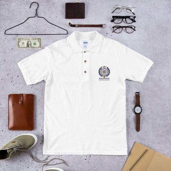 Asgardian Embroidered Polo Shirt, White