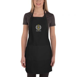 Asgardian Embroidered Apron, Black, Close-Up