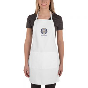Asgardian Embroidered Apron, White