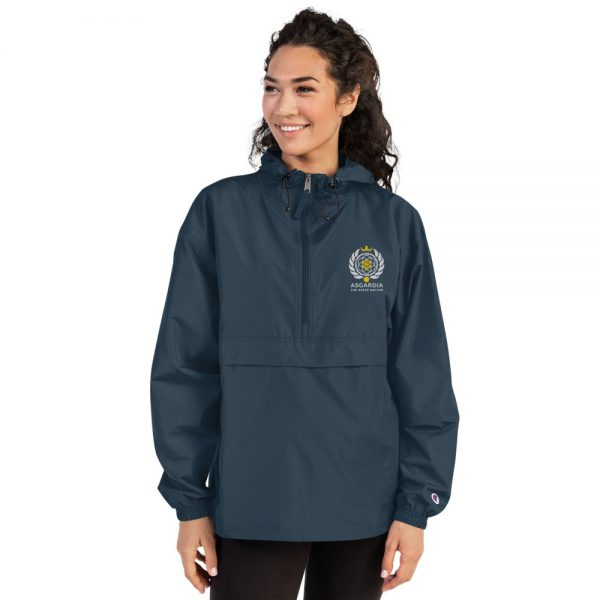 Asgardian Embroidered Champion Packable Jacket, Navy