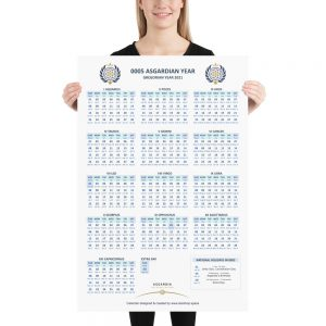 Large Asgardian Calendar, Vertical, Light