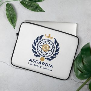Asgardian Laptop Sleeve, White