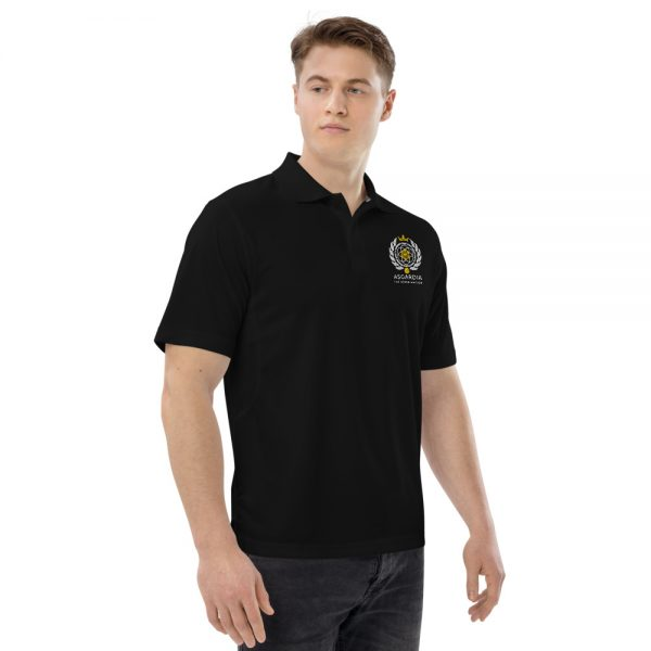 Asgardian Men's Champion Performance Polo, Black