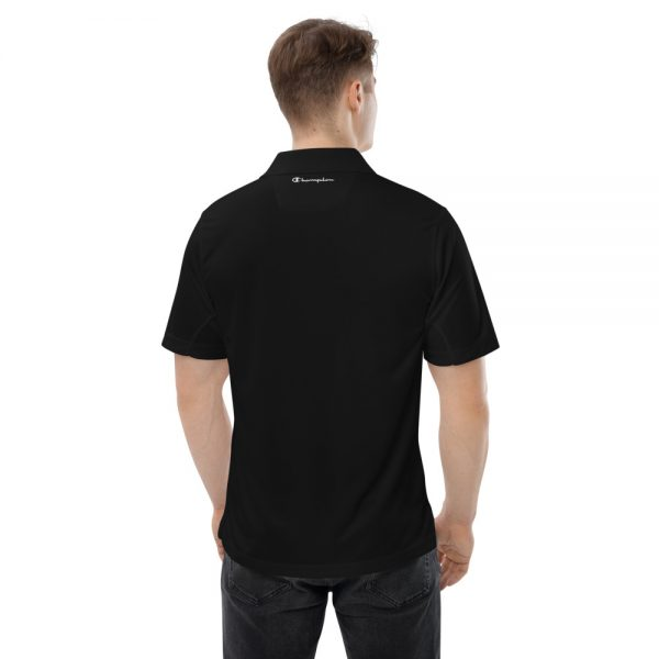 Asgardian Men's Champion Performance Polo, Black, Back