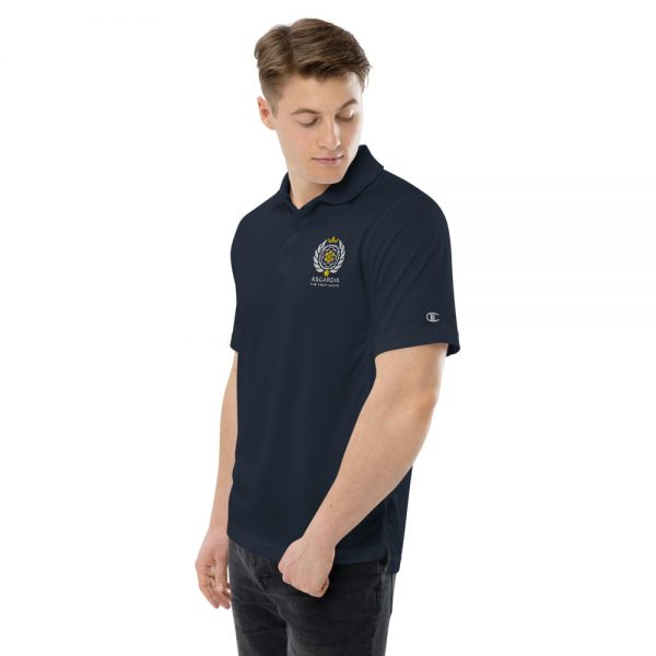 Asgardian Men's Champion Performance Polo, Navy Blue
