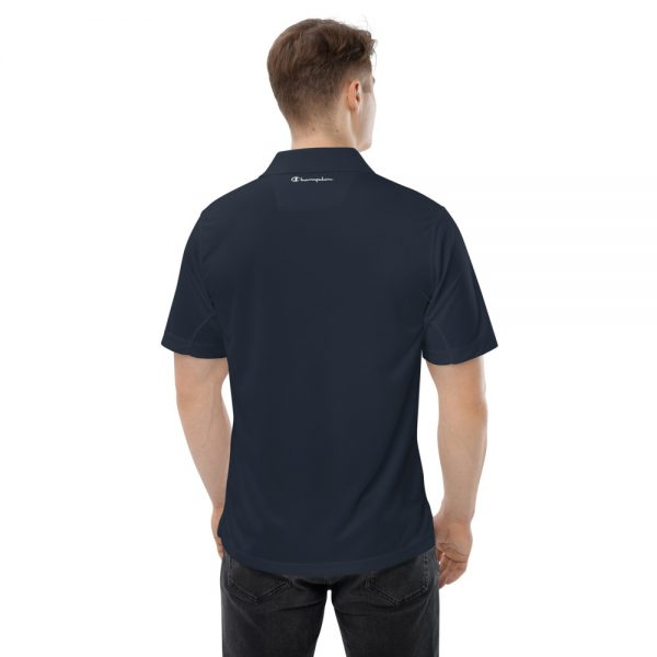 Asgardian Men's Champion Performance Polo, Navy Blue, Back