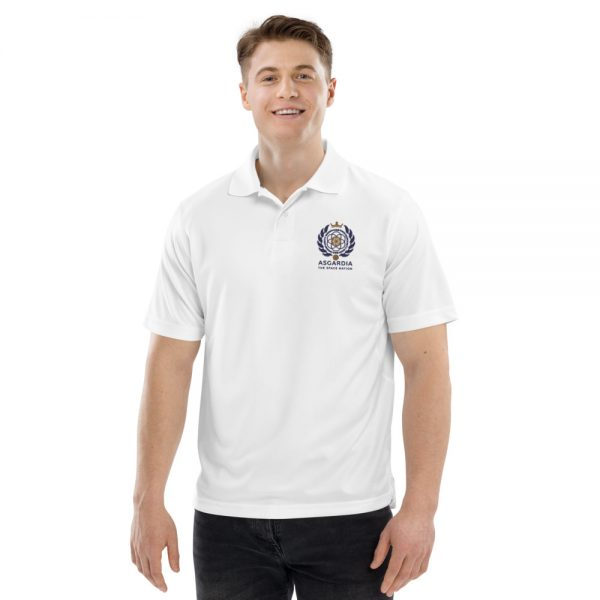 Asgardian Men's Champion Performance Polo, White