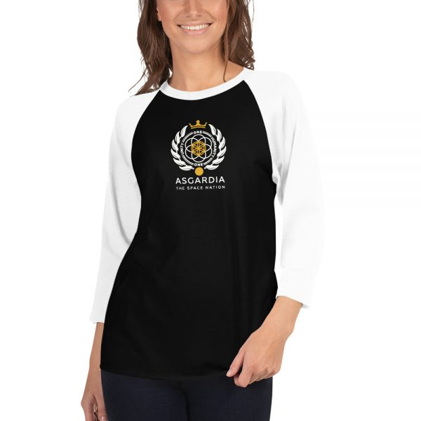 Asgardian 3/4 Sleeve Raglan Shirt, Black Base