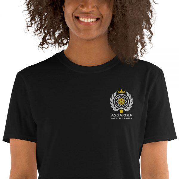 Asgardian Unisex Short Sleeve T-Shirt, Black, Close-Up