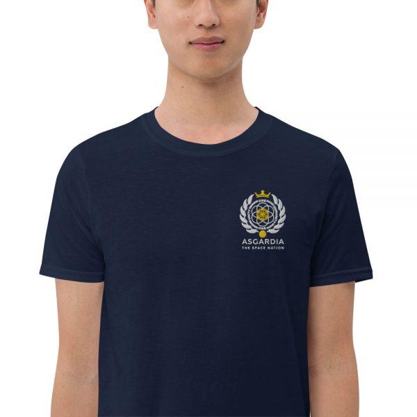 Asgardian Unisex Short Sleeve T-Shirt, Navy-Blue, Close-Up