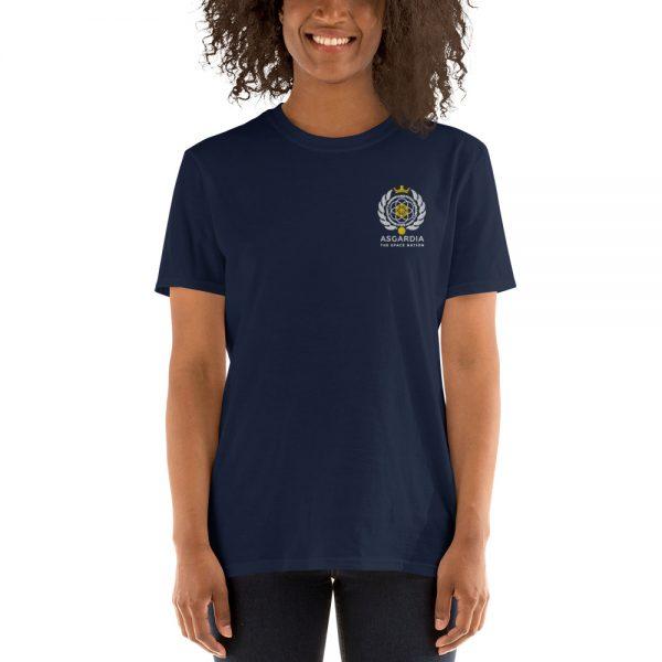 Asgardian Unisex Short Sleeve T-Shirt, Navy Blue