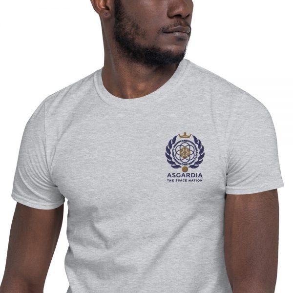 Asgardian Unisex Short Sleeve T-Shirt, Light-Grey, Close-Up