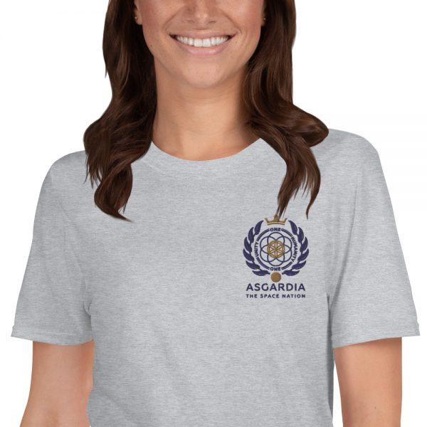 Asgardian Unisex Short Sleeve T-Shirt, Light-Gray, Close-Up