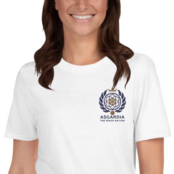 Asgardian Unisex Short Sleeve T-Shirt, White, Close-Up