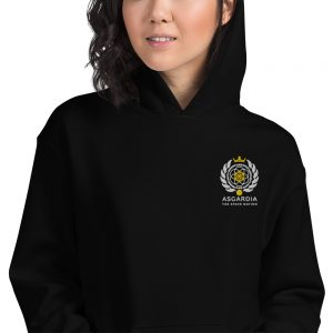 Asgardian Unisex Hoodie, Black, Close-Up