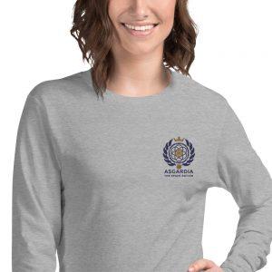 Asgardian Unisex Long Sleeve Shirt, Light-Gray, Close-Up