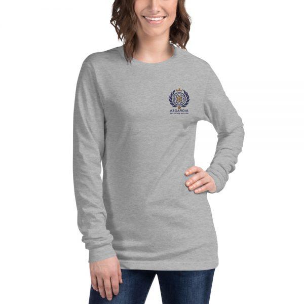 Asgardian Unisex Long Sleeve Shirt, Light-Gray
