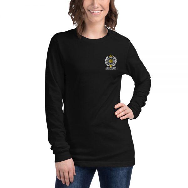 Asgardian Unisex Long Sleeve Shirt, Black