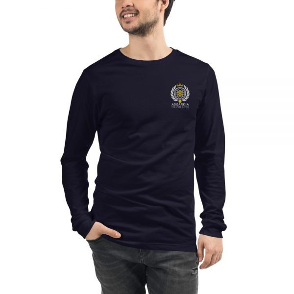 Asgardian Unisex Long Sleeve Shirt, Navy Blue