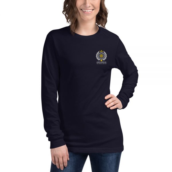 Asgardian Unisex Long Sleeve Shirt, Navy Blue