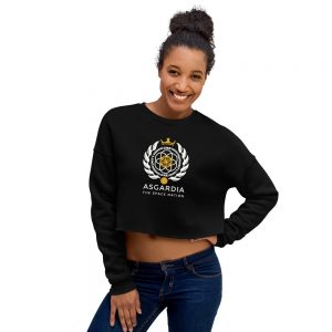 Asgardian Crop Sweatshirt, Black