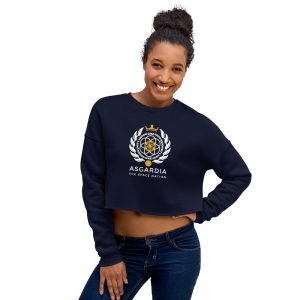 Asgardian Crop Sweatshirt, Navy Blue